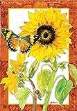 BreezeArt Golden Sunflower Garden Flag 31325