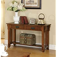 1PerfectChoice Oak Occasional Group 2 Drawer Sofa Table
