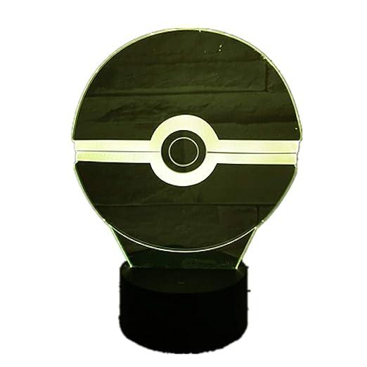 KangYD Luz 3D /Pokemon Ball Night Lamp Led Dormitorio Night Light ...