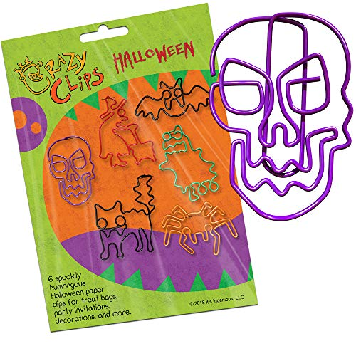 (Halloween Paper Clips for Party Favors, Treat Bags, Invitations and Prizes - 6 Big, Super Cute Halloween Creatures in a Wacky, Project-Ready Pack: Package of)