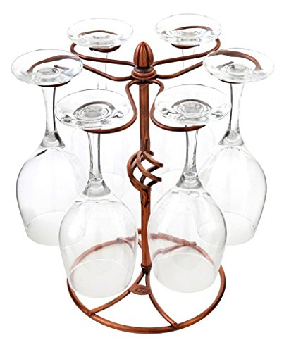 gold bar cart with wine rack - 8