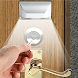 LENMO Keyhole Light Lamp Battery Operated PIR Infrared Wireless Auto Sensor Motion Detector Door Keyhole with 4 LED Light Lamp Tap Lights LED Night Light for Key Hole/Door Lock