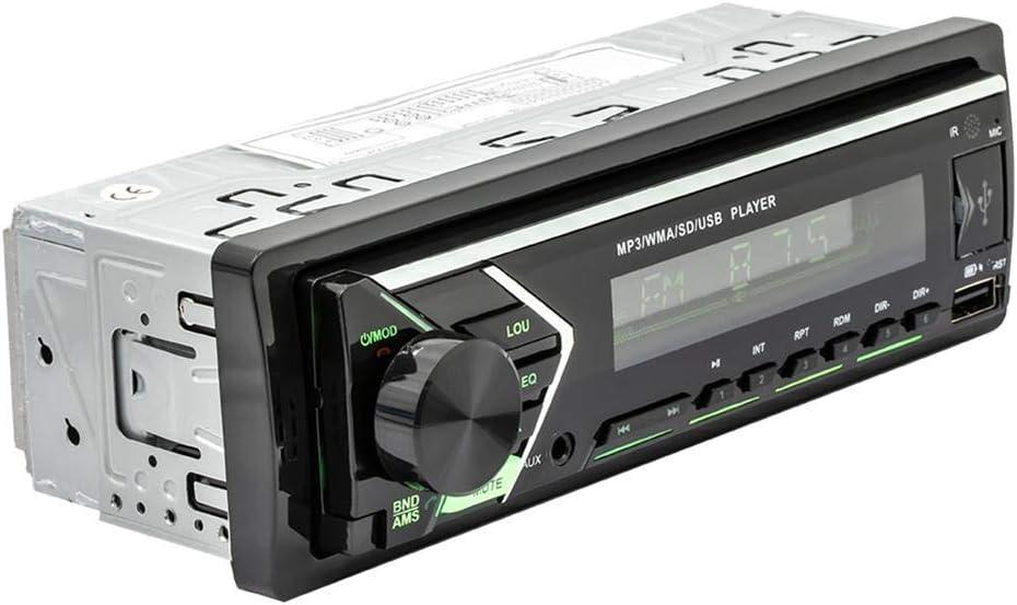 Xiangyin Autoradio Bluetooth Autoradio Mp3 Player Single Din Bluetooth Audio Und Freisprechen Eingebautes Mikrofon Mp3 Player Usb Anschluss Aux Eingang Fm Radioempfänger Lcd Bildschirm Mit Bunten Auto