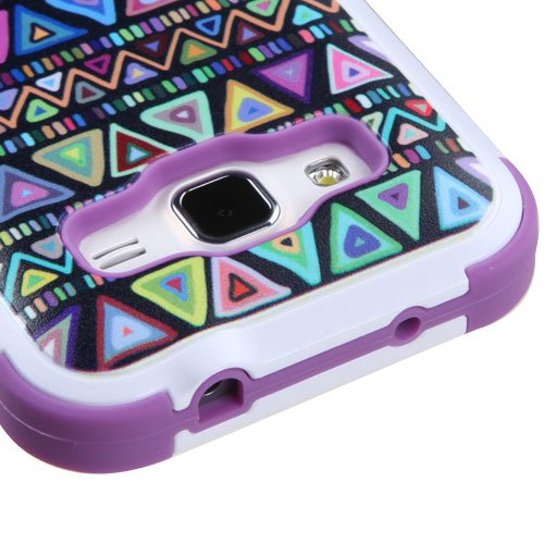 SAMSUNG GALAXY CORE PRIME CASE, Phonelicious® For SAMSUNG GALAXY PREVAIL LTE / SAMSUNG GALAXY CORE PRIME G360 Heavy Duty Rugged Impact Armor Hybrid Kickstand Dynamic Verge Case Phone Tuff Robust Cover + Premium Clear Screen Protector Combo & Phonelicious® Stylus Pen (Purple Swag Tribal)