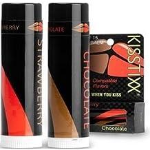 Kisstixx Strawberry and Chocolate Spf 15 (2 Balms) by KISSTIXX