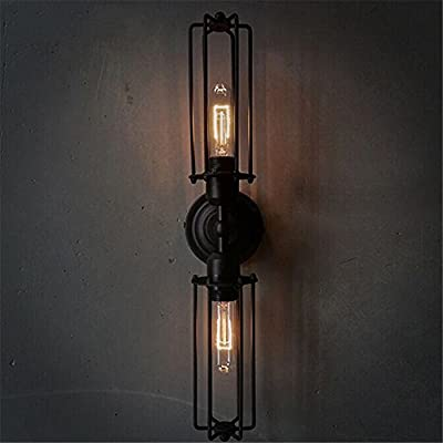 Shabby Chic Wrought Iron Black Wall Sconce Lighitng Fixture , Bathroom wall light