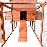 """PawHut 145"""" Chicken Coop Large Rabbit Hutch Wooden"""