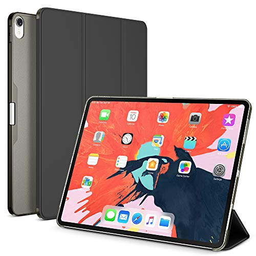 Maxboost Ipad Pro 12 9 Case Designed For Ipad 12 9 Inch 2018 3rd Gen Only Translucent Matte Frosted Hybrid Smart Case Auto Sleep Wake Trifold Magnetic Stand Not Support Apple Pencil Charging