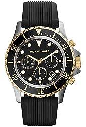 Michael Kors Everest Chronograph Black Dial Black Silicone Mens Watch MK8366
