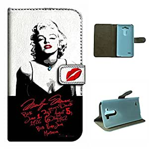 G3 5.5 inch Phone case,SoloShow Marilyn Monroe sexy hot pattern Luxury Wallet PU Leather Holder Pouch Case for lG G3 5.5 inch (love Monroe)