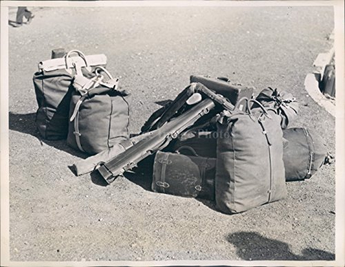 1940 Photo Duck Hunter Duffle Rifle Food Ammunition Decoy Luggage (Vintage Stamped Luggage)