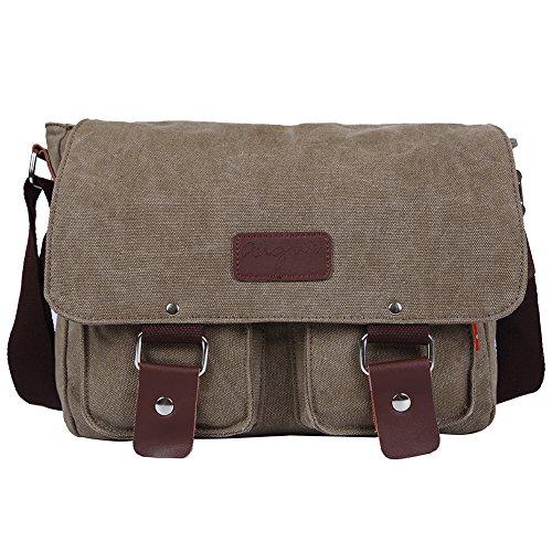 EGOGO Messenger Umhängetasche Kausale Tag Tasche Business Aktentasche Laptop Tasche Schultertasche Grau