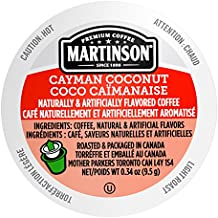 Martinson Single Serve Coffee Capsules, Cayman Coconut, 24 Count