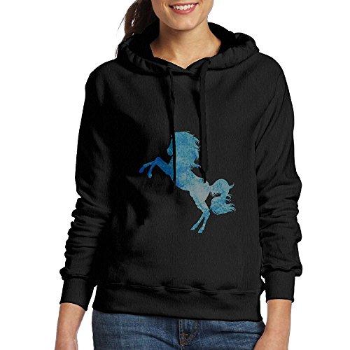 YinMedj Water Horse Women's Custome Long Sleeve Pullover Hoodie Sweatshirt Tops Blouse Apparel For Women Teens And Girls