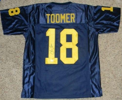 Autographed-Amani-Toomer-Jersey-Michigan-Wolverines-18-Navy-JSA-Certified-Autographed-NFL-Jerseys