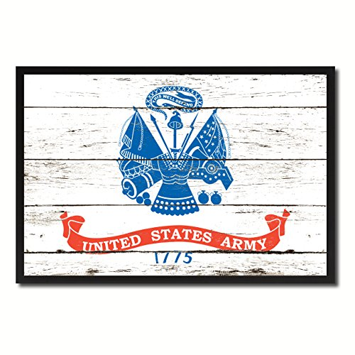US Army 1775 Military Flag Vintage Canvas Print Picture Frame Home Decor Man Cave Wall Art Collection Gift Ideas