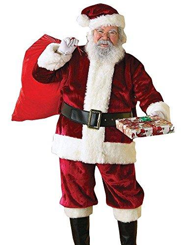Rubie's Crimson Regency Plush Santa Suit,Red/White, XX-Large (Black And White Wig Costume Ideas)