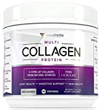 Multi Collagen Peptides Powder: 40 SRV Anti Aging Super Youth Powder with Hydrolyzed Collagen Protein from Grass-Fed Beef, Wild Marine, Chicken, Eggshell, Type I II III V X Keto Collagen Supplement Review