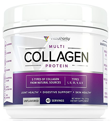 Multi Collagen Peptides Powder: 40 SRV Anti Aging Super Youth Powder with Hydrolyzed Collagen Protein from Grass-Fed Beef, Wild Marine, Chicken, Eggshell, Type I II III V X Keto Collagen Supplement
