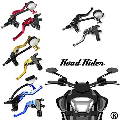 Universal Motorcycle 7/8'' 22mm Standard Handle Bar Adjustment Front Brake Master Cylinder Clutch Lever For Sport Bike/Street Bike/Scooter/Dirt Bike(Gold) by How Do You Do (Image #4)