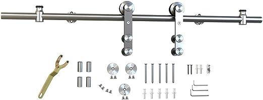 1 barra de acero inoxidable para puerta corredera, barra de herramientas de montaje lateral para perno de pared de 40,6 cm: Amazon.es: Bricolaje y herramientas