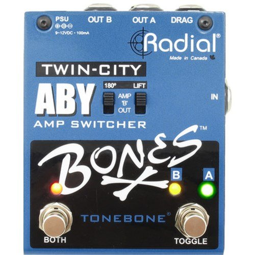 Radial Bones Twin City ABY Amp Switcher (Aby Guitar Pedal)