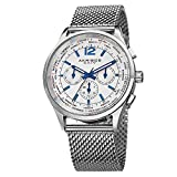 Akribos Multifunction Stainless Steel Chronograph Watch - 3 Sub-Dials Complications Quartz - Mesh Bracelet Men's Watch - AK716