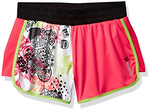 Reebok Soccer Shorts (Reebok Big Girls' Color Block Short, Berry Pink, L)