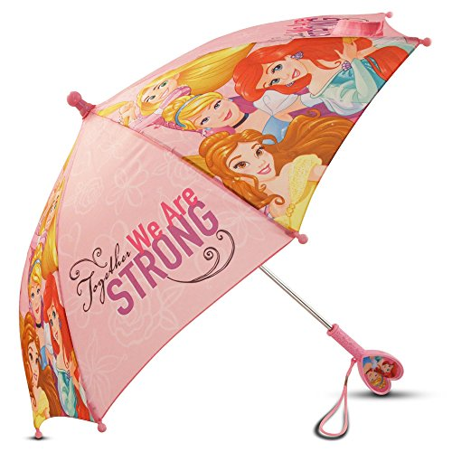 Princess Umbrella (Disney Little Girls' Princess Character Rainwear Umbrella, Pink, Age 3-7)