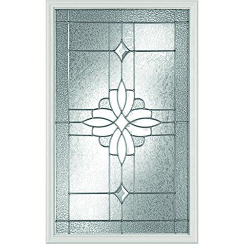 Western Reflections Laurel Door Glass - 24'' x 38'' Frame Kit, Nickel Caming by Western Reflections