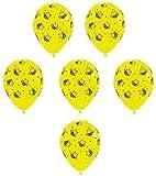 LoonBalloon BumbleBee Bumble Bee Printed Buzz Yellow & Black (6) Party Favor Latex Balloons