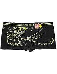 NAUGHTY Grinch With Santas Bag Womens Boy Shorts Panty (X-Large 8)