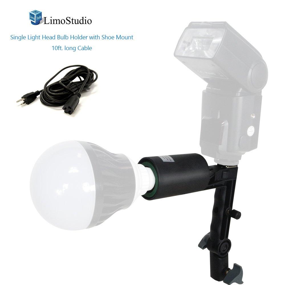 limosingleヘッドフォト電球ソケットwithフラッシュブラケットe26標準ベースサイズ   B01MT5HU67