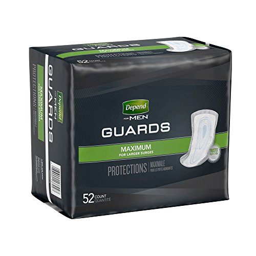 depend for men incontinence guards  maximum absorbency 52 ea