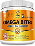Zesty Paws Omega 3 Alaskan Fish Oil Chew Treats for Dogs - with AlaskOmega with EPA & DHA for Shiny Coats & Itch Free Skin - Hip & Joint Support + Heart & Brain Health - Bacon Flavor - Net Wt 12.7 OZ