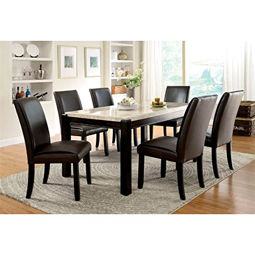 Furniture of America IDF-3823T Minna Contemporary Marble Dining Table