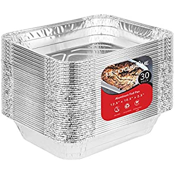 Amazon Com 9x13 Disposable Aluminum Foil Baking Pans 30
