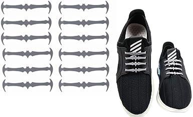 fangcheng Elásticos Sin Corbata Cordones de Zapatos, Silicona ...