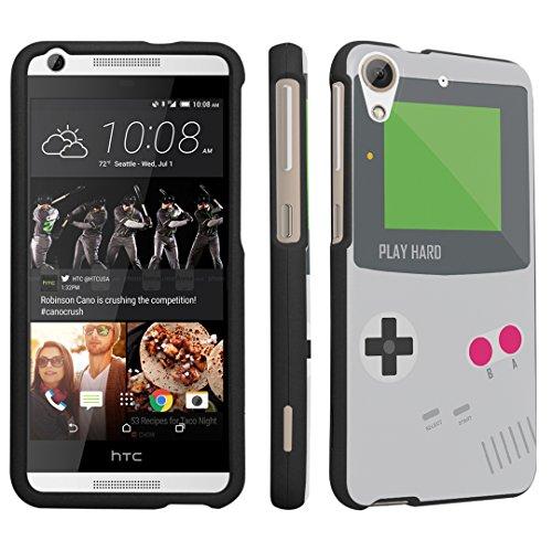 DuroCase ® HTC Desire 626s / HTC Desire 626 (Released in 2015) Hard Case Black - (Gameboy Grey) (Htc Desire T Mobile Phone)