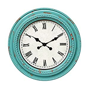 Daao Round Wall Clock Living Room Quiet Wall Clocks 20 Inch Green Sports
