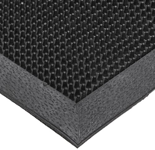 Scrape Entrance (NoTrax T28 SBR Rubber Finger Scrape Entrance Mat, for Wet and Dry Areas, 36