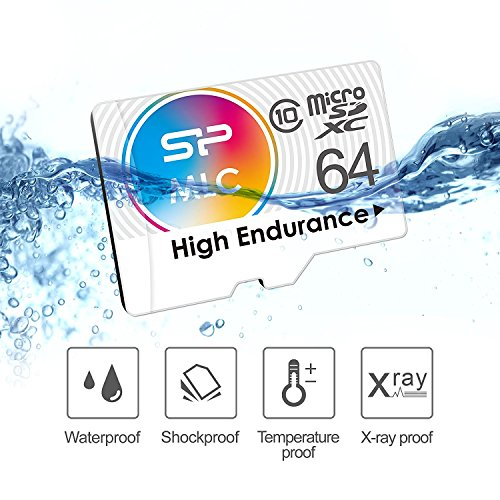 Silicon Power 64GB High Endurance MLC MicroSDXC Memory Card for Dash Cam and Security Camera, with Adapter (SP064GBSTXIU3V10SP) by Silicon Power (Image #5)