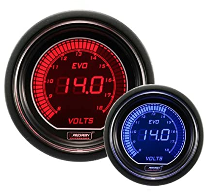 Sensational Amazon Com Volt Gauge Electrical Red Blue Evo Series 52Mm 2 1 16 Wiring Cloud Funidienstapotheekhoekschewaardnl