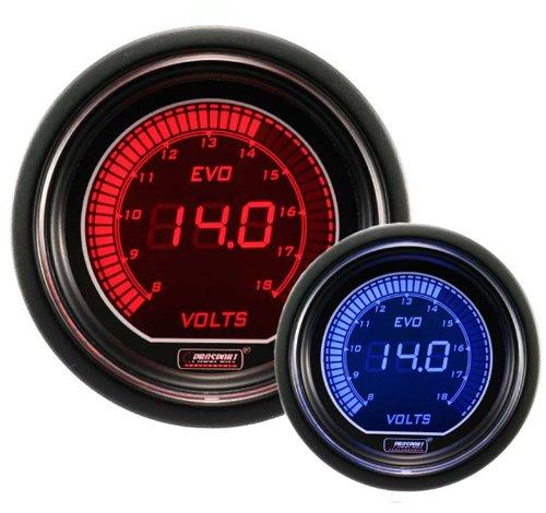 - Volt Gauge- Electrical Red/blue EVO Series 52mm (2 1/16