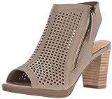 Bella Vita Women's Lenore Heeled Sandal, Almond Leather, 12 2W US