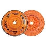 "Walter Surface Technologies 06A462 Enduro-Flex Turbo Abrasive Flap Discs, Type 29, 7/8"" Arbor, Plastic Backing, Ceramic Blend, 4-1/2"" Diameter Grit 36/60 (Pack of 10)"
