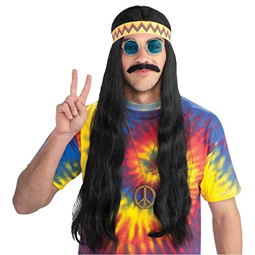 Hippie Dude Wig with Headband Costume Accessory - Cute Hippie Costumes Ideas