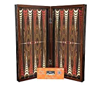 "20"" Yenigun Elegance Walnut Turkish Tavla Backgammon Chess Board Professional Full Set Wooden Backgammon Set"