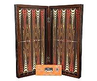 "20"" Yenigun Elegance Walnut Turkish Tavla Backgammon Chess Board Professional Full Set Wooden Backgammon Set"