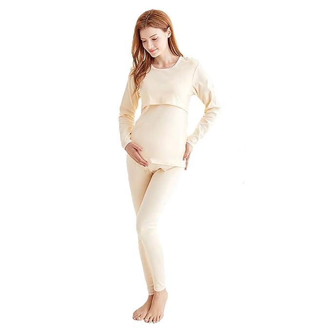 Hibote Pijamas de Maternidad para Mujeres/Pijamas de enfermería/Ropa de Dormir de algodón
